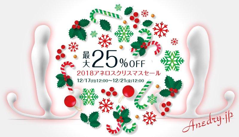 【速報】12/17(月)~12/21(金)セール開催!今年はやります最大25%OFFのアネロスジャパン2018クリスマスセール